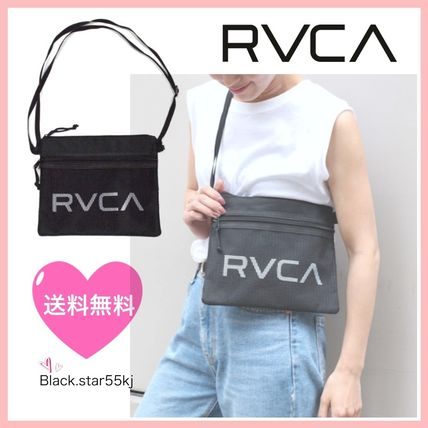 Unisex Street Style PVC Clothing Shoulder Bags
