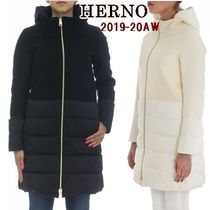 HERNO Wool Blended Fabrics Long Down Jackets