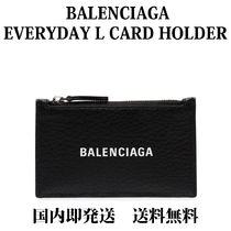 BALENCIAGA EVERYDAY TOTE Monogram Unisex Leather Coin Purses