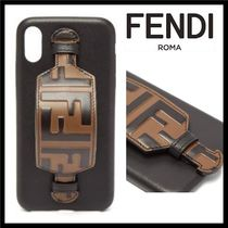 FENDI FOREVER Unisex Leather Smart Phone Cases