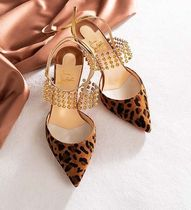 Christian Louboutin Leopard Patterns Suede Studded Other Animal Patterns
