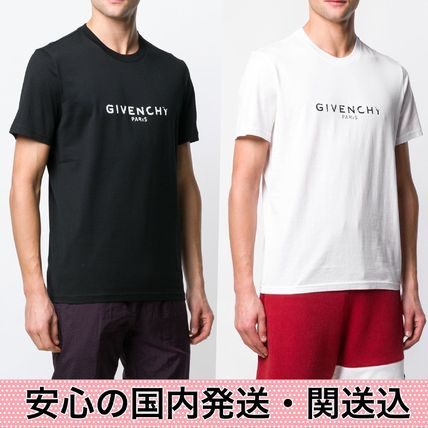 GIVENCHY More T-Shirts Crew Neck Street Style Plain Cotton T-Shirts 13