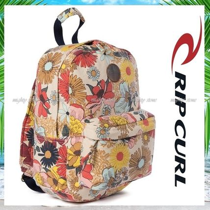 Flower Patterns Casual Style A4 Tribal Backpacks