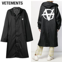 VETEMENTS Casual Style Unisex Street Style Long Oversized Coats