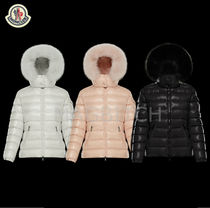 MONCLER Short Fur Street Style Plain Down Jackets