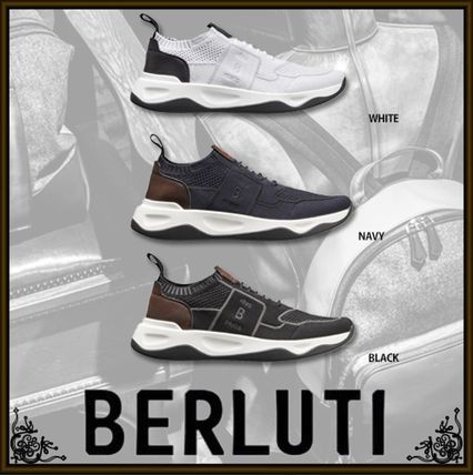 Blended Fabrics Leather Sneakers