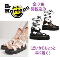 Dr Martens Rubber Sole Lace-up Casual Style Street Style Leather