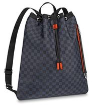 Louis Vuitton DAMIER COBALT Monogram Blended Fabrics Street Style Backpacks