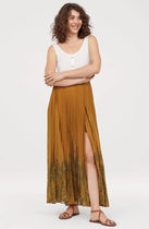 H&M Paisley Pleated Skirts Long Maxi Skirts
