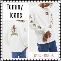 Tommy Hilfiger Crew Neck Unisex Sweat Street Style Long Sleeves Plain