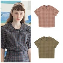 TARGETTO SEOUL Other Check Patterns Casual Style Cotton Medium