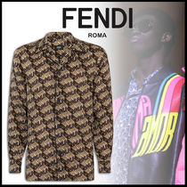 FENDI Silk Long Sleeves Shirts