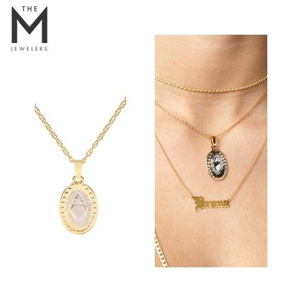 Casual Style Unisex Cross Street Style Chain 18K Gold