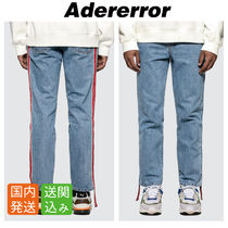 ADERERROR Stripes Unisex Street Style Cotton Jeans & Denim