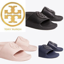 Tory Burch Rubber Sole Casual Style Shower Shoes Flat Sandals