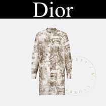 Christian Dior Street Style Long Sleeves Other Animal Patterns Cotton Long