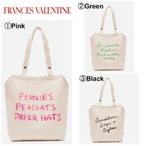 FRANCIS VALENTINE Casual Style Canvas Plain Totes