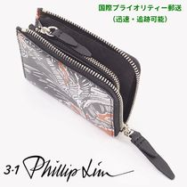 3.1 Phillip Lim Tropical Patterns Unisex Leather Folding Wallets