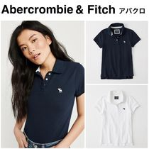 Abercrombie & Fitch Casual Style Plain Cotton Medium Short Sleeves Polo Shirts