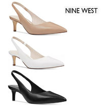 Nine West Leather Pin Heels Office Style Pointed Toe Pumps & Mules