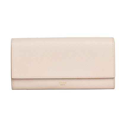 CELINE Flap Large Flap Wallet In Grained Calfskin