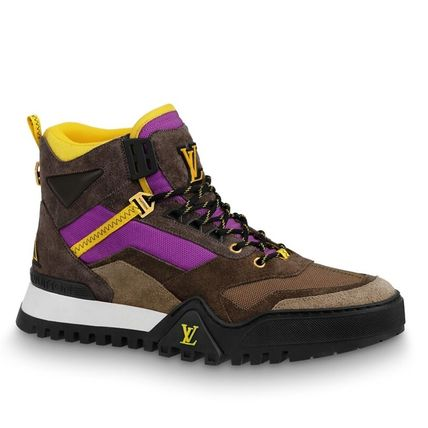 Louis Vuitton Sneakers Mountain Boots Blended Fabrics Street Style Bi-color Leather 2