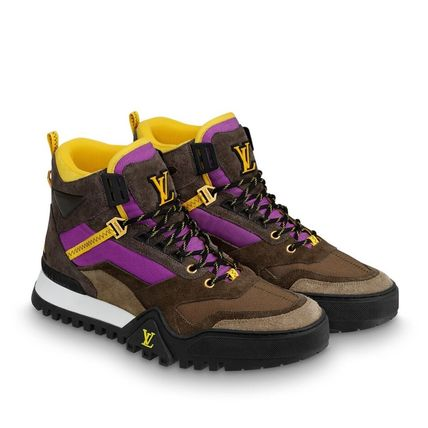 Louis Vuitton Sneakers Mountain Boots Blended Fabrics Street Style Bi-color Leather 3