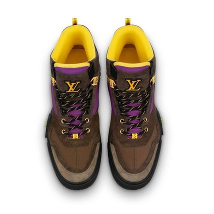 Louis Vuitton Sneakers Mountain Boots Blended Fabrics Street Style Bi-color Leather 4