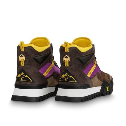 Louis Vuitton Sneakers Mountain Boots Blended Fabrics Street Style Bi-color Leather 5