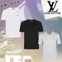 Louis Vuitton V-Neck Plain Cotton Short Sleeves V-Neck T-Shirts