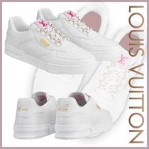 Louis Vuitton Blended Fabrics Street Style Bi-color Leather Sneakers