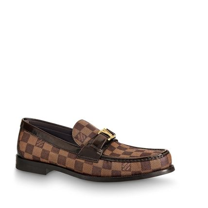 Louis Vuitton Loafers & Slip-ons Other Check Patterns Plain Toe Loafers Blended Fabrics 2