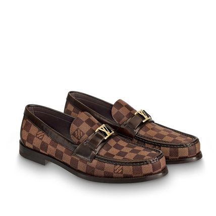 Louis Vuitton Loafers & Slip-ons Other Check Patterns Plain Toe Loafers Blended Fabrics 3