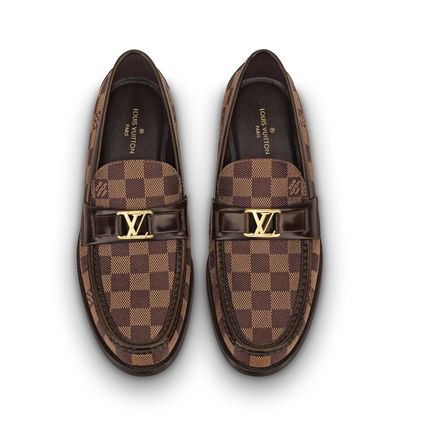 Louis Vuitton Loafers & Slip-ons Other Check Patterns Plain Toe Loafers Blended Fabrics 4