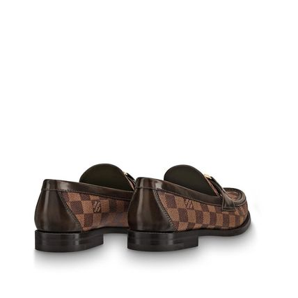 Louis Vuitton Loafers & Slip-ons Other Check Patterns Plain Toe Loafers Blended Fabrics 5