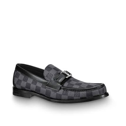 Louis Vuitton Loafers & Slip-ons Other Check Patterns Plain Toe Loafers Blended Fabrics 6