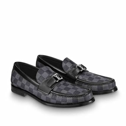 Louis Vuitton Loafers & Slip-ons Other Check Patterns Plain Toe Loafers Blended Fabrics 7