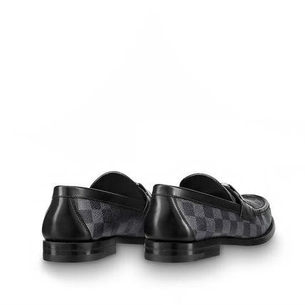 Louis Vuitton Loafers & Slip-ons Other Check Patterns Plain Toe Loafers Blended Fabrics 9