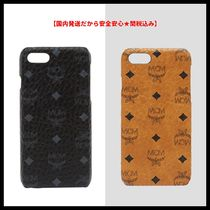 MCM Monogram Unisex Street Style Smart Phone Cases