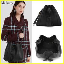 Mulberry Casual Style Plain Leather Fringes Totes