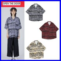 OPEN THE DOOR Street Style Short Sleeves Shirts & Blouses