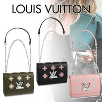 Louis Vuitton Flower Patterns Chain Plain Leather With Jewels