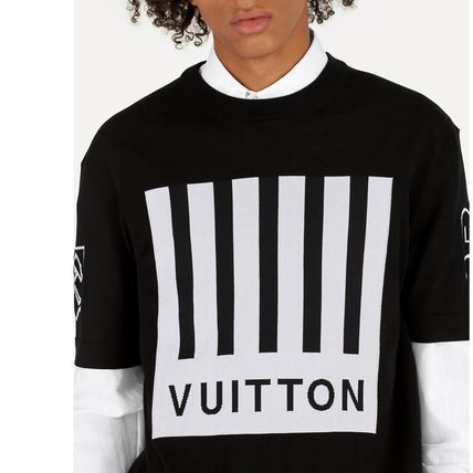 Louis Vuitton Crew Neck Crew Neck Pullovers Wool Blended Fabrics Street Style 5