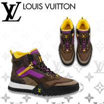 Louis Vuitton Mountain Boots Blended Fabrics Street Style Plain Leather