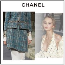 CHANEL Pencil Skirts Short Tweed Skirts