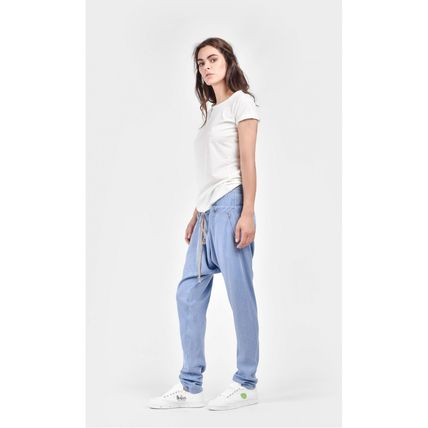 Aakasha Casual Style Unisex Denim Plain Cotton Long Handmade