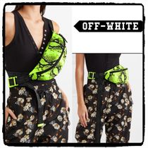 Off-White Casual Style Street Style Python Shoulder Bags