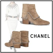 CHANEL 2019-20AW SHORT BOOTS beige short boots & booties