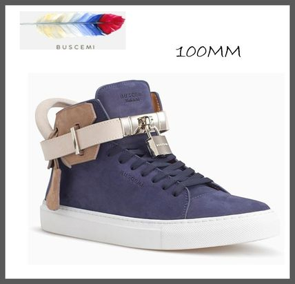 Street Style Bi-color Leather Sneakers