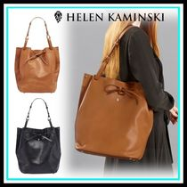 HELEN KAMINSKI Casual Style Blended Fabrics Leather Home Party Ideas Totes